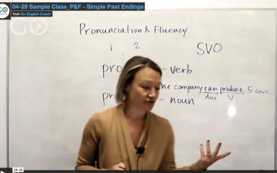 Pronunciation & Fluency: Past tense -ed Endings 4.29.21