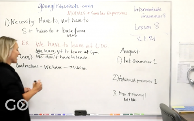 Intermediate Grammar 3: Modals 8.1.21